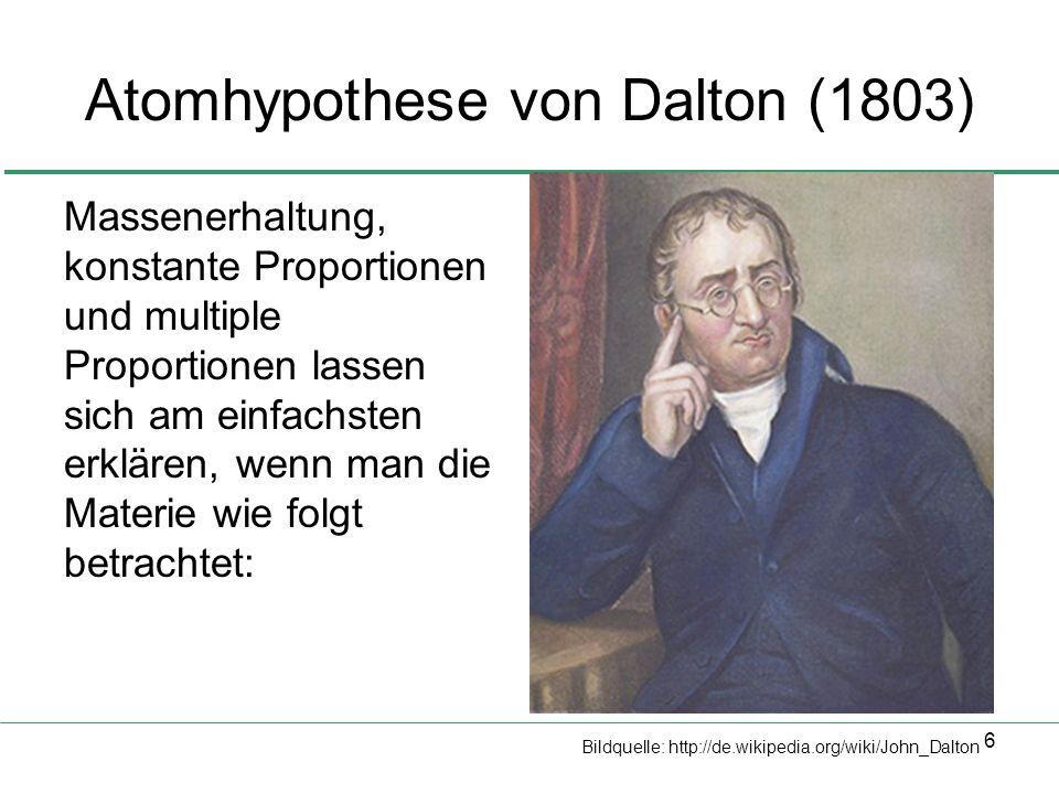 Atomhypothese von Dalton (1803)