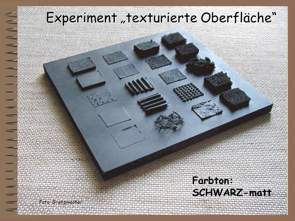 """Experiment """"texturierte Oberfläche"""