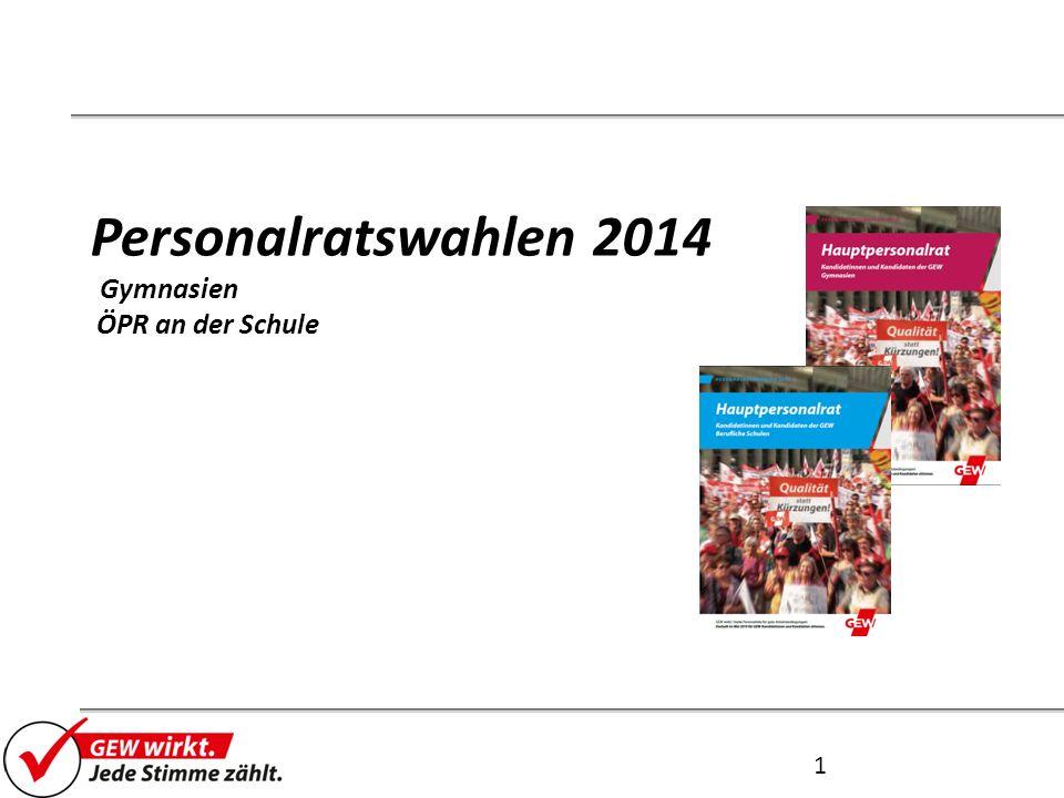 Personalratswahlen 2014 Gymnasien