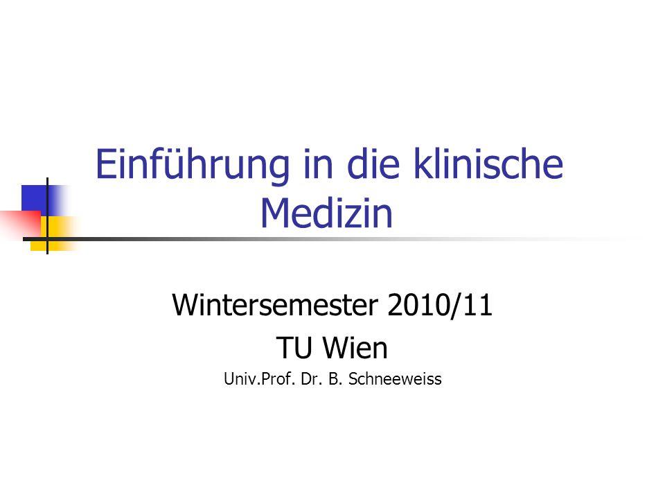Einführung in die klinische Medizin