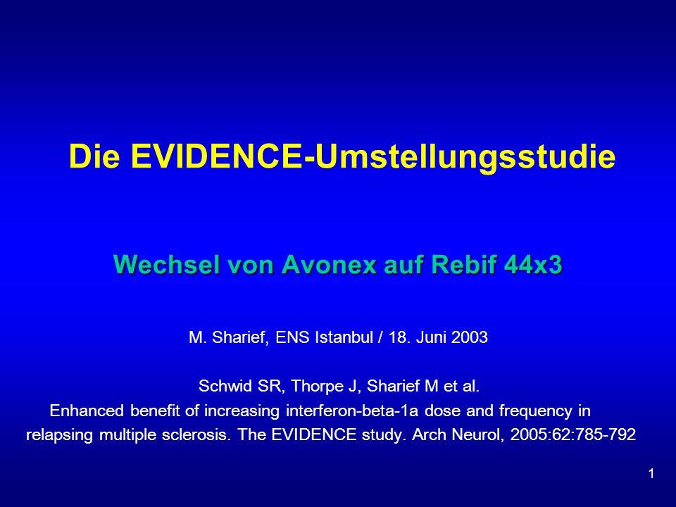Die EVIDENCE-Umstellungsstudie Wechsel von Avonex auf Rebif 44x3