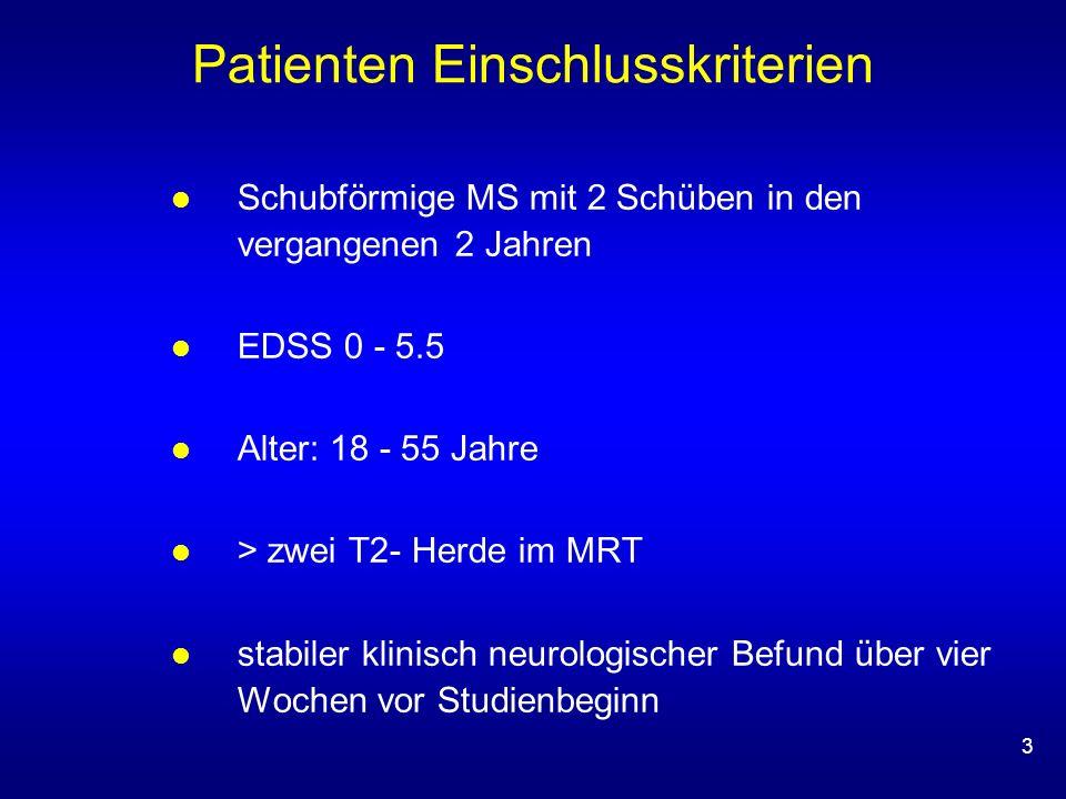 Patienten Einschlusskriterien