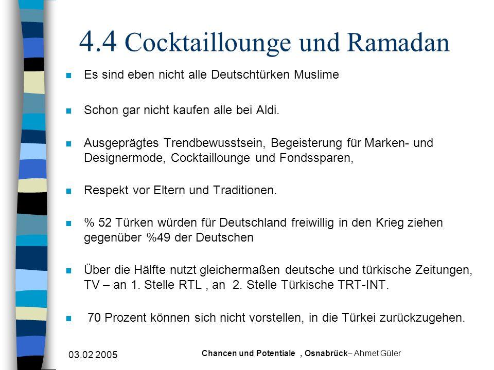 4.4 Cocktaillounge und Ramadan