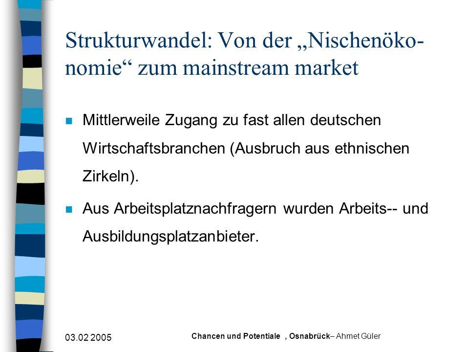 """Strukturwandel: Von der """"Nischenöko- nomie zum mainstream market"""