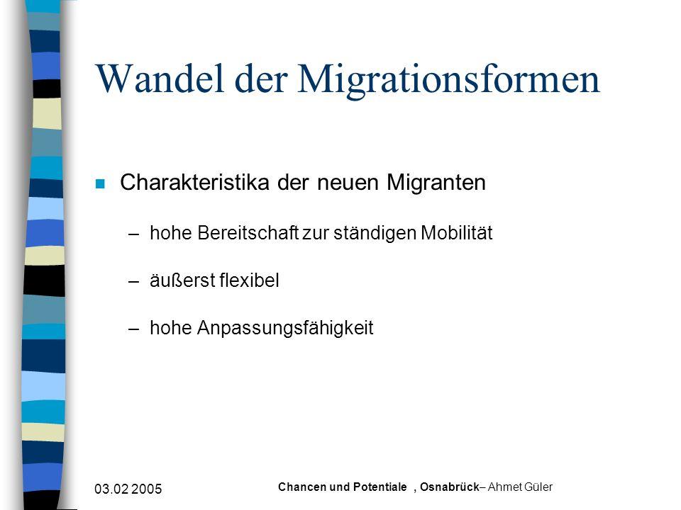 Wandel der Migrationsformen