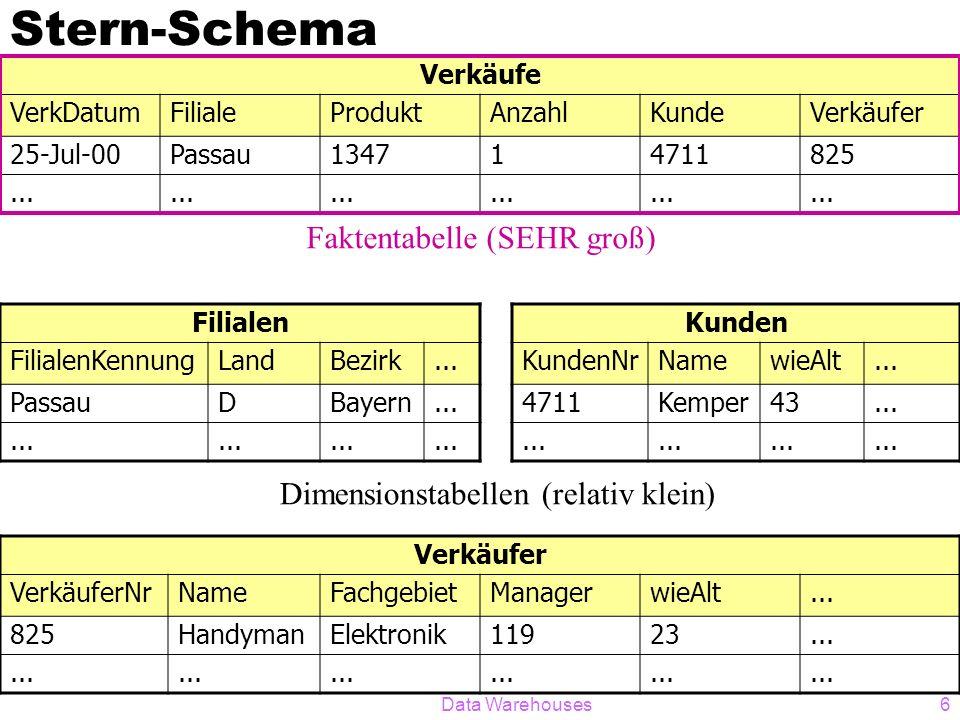 Stern-Schema Faktentabelle (SEHR groß)