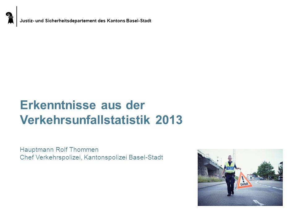 Erkenntnisse aus der Verkehrsunfallstatistik 2013