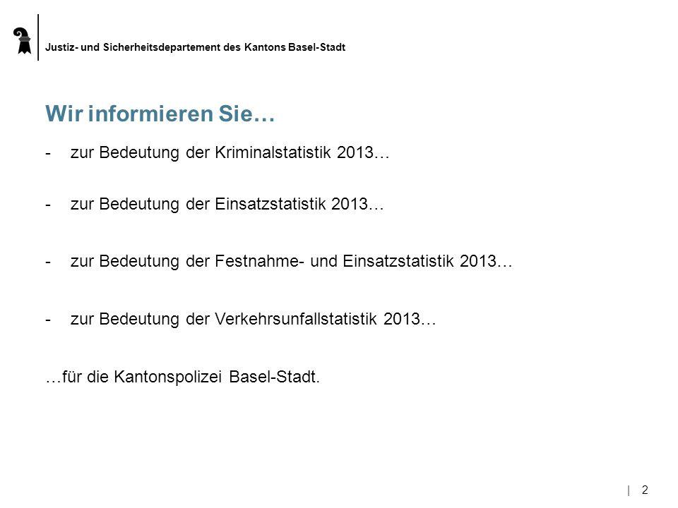 Wir informieren Sie… zur Bedeutung der Kriminalstatistik 2013…