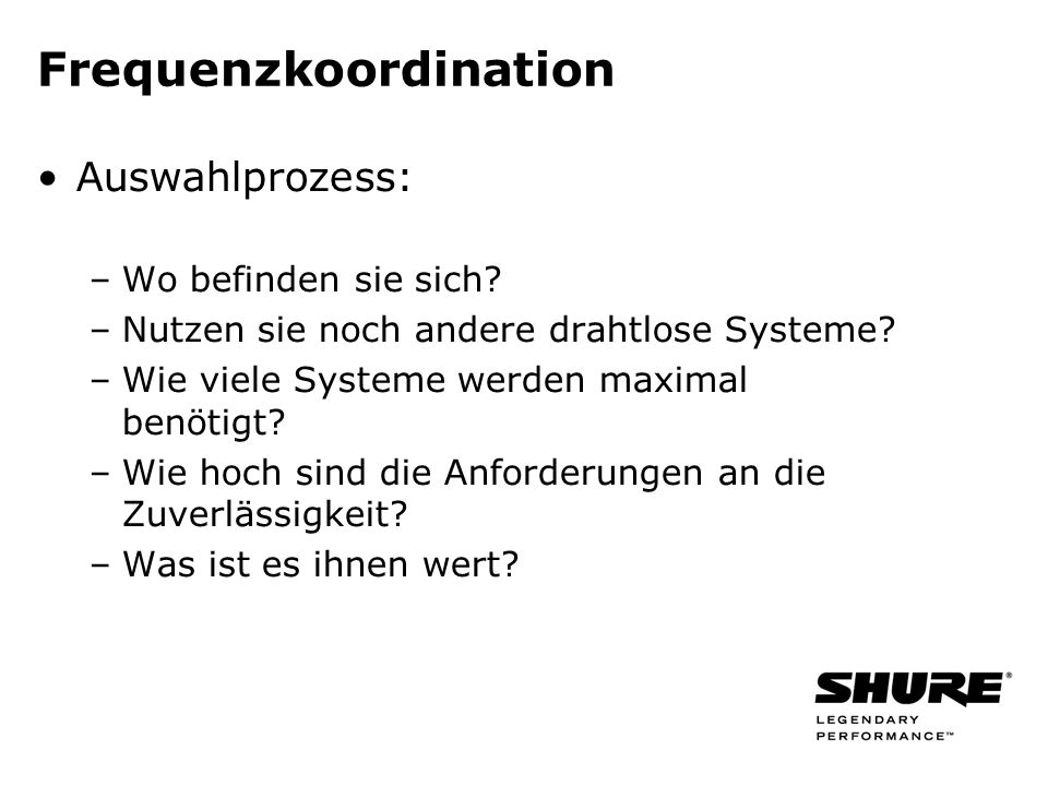 Frequenzkoordination