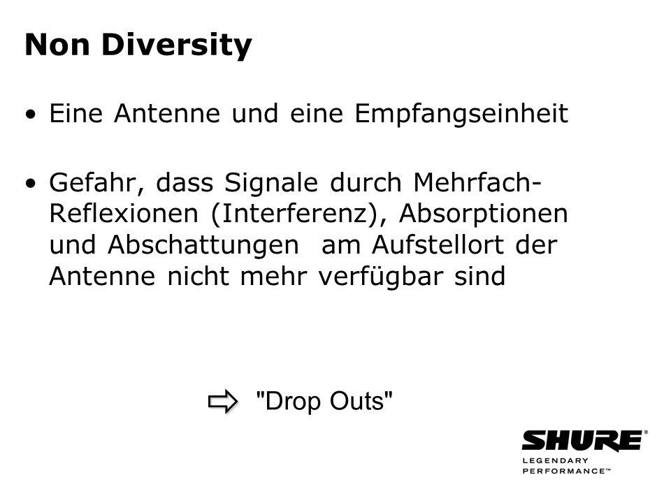 Non Diversity Eine Antenne und eine Empfangseinheit