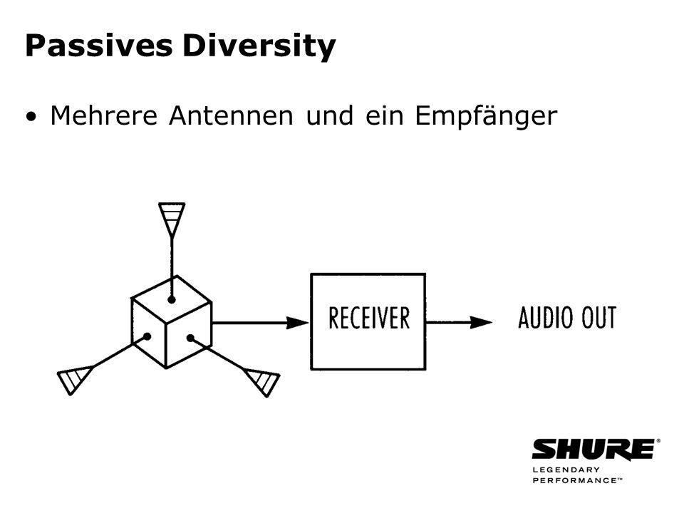 Passives Diversity Mehrere Antennen und ein Empfänger