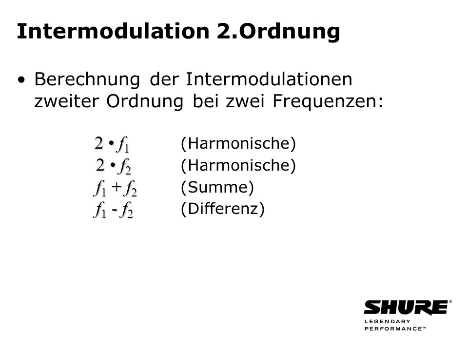 Intermodulation 2.Ordnung
