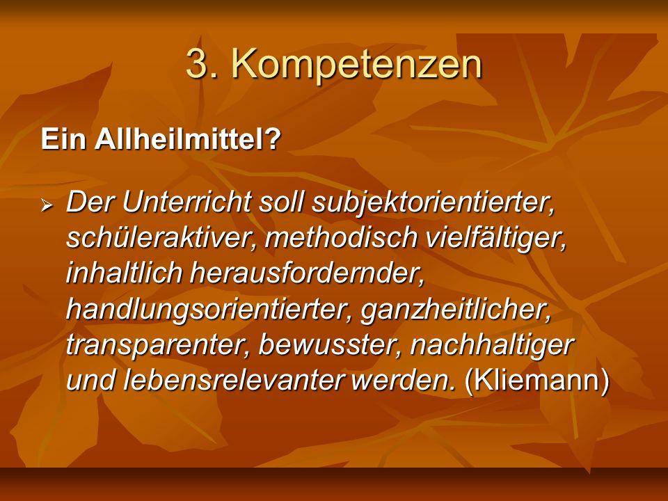3. Kompetenzen Ein Allheilmittel