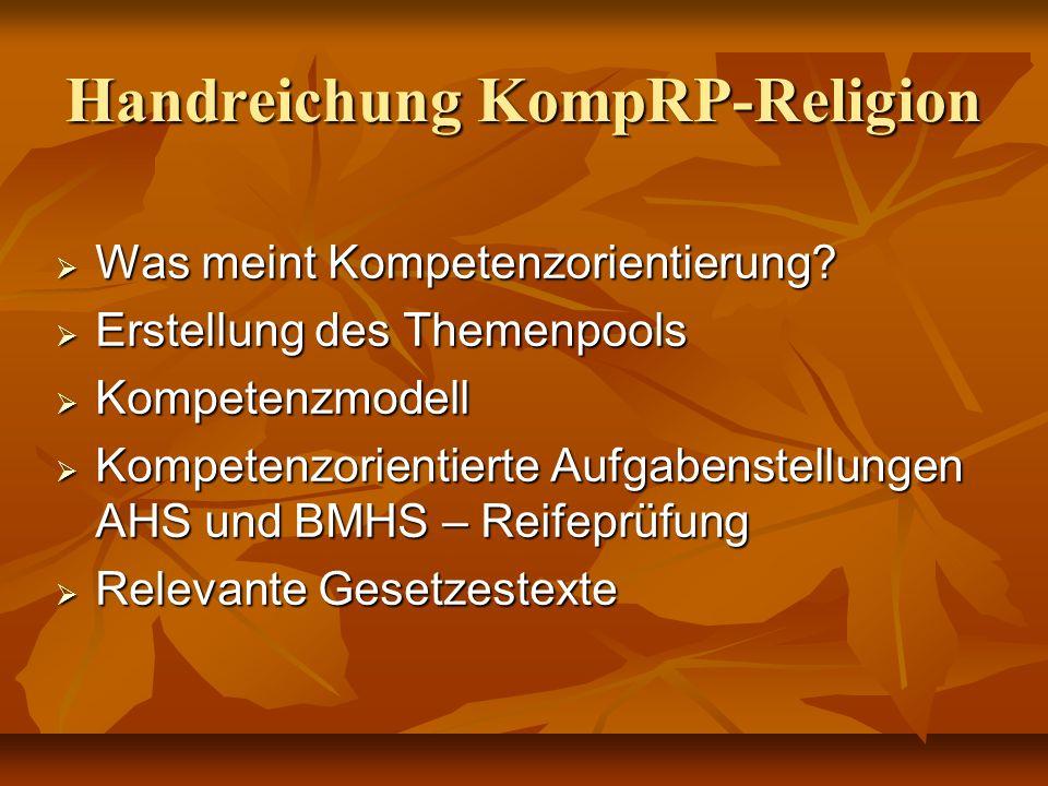 Handreichung KompRP-Religion