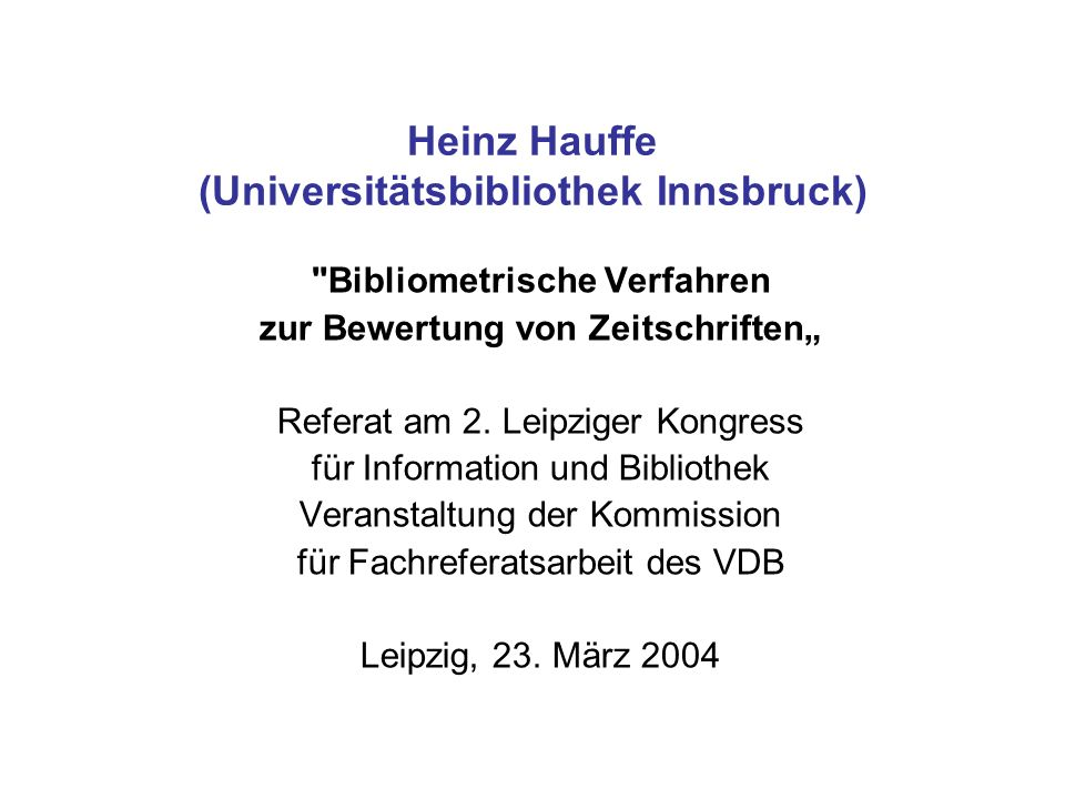 Heinz Hauffe (Universitätsbibliothek Innsbruck)