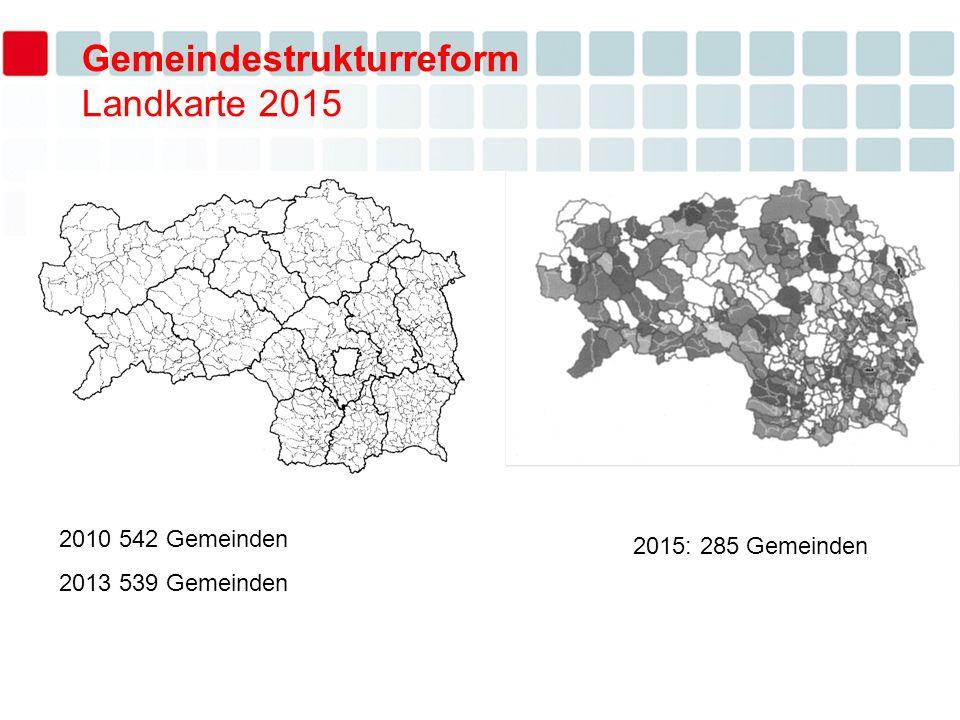 Gemeindestrukturreform Landkarte 2015