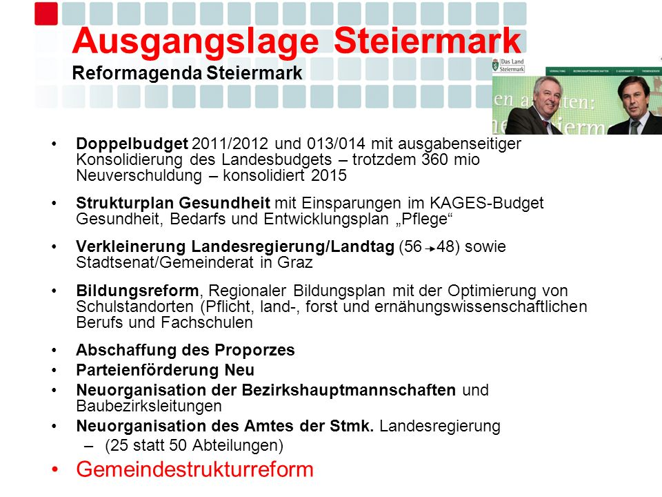 Ausgangslage Steiermark