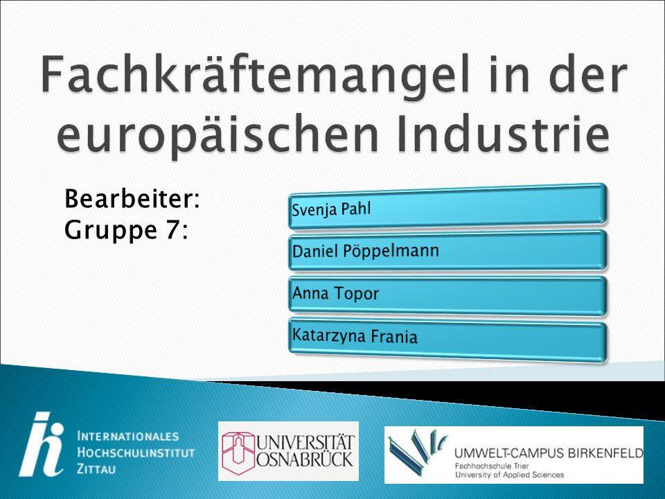 Fachkräftemangel in der europäischen Industrie