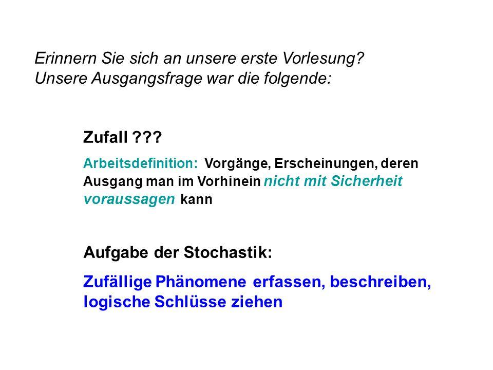 Aufgabe der Stochastik: