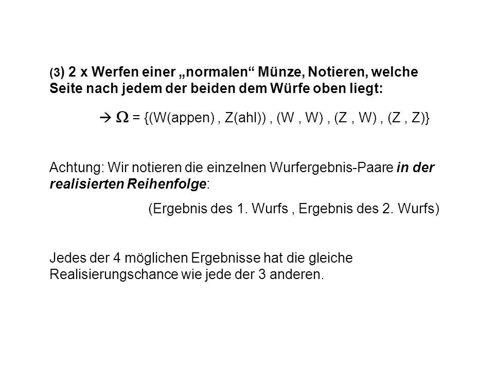  W = {(W(appen) , Z(ahl)) , (W , W) , (Z , W) , (Z , Z)}