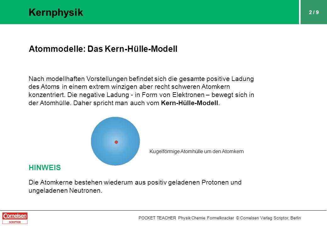 Kernphysik Atommodelle: Das Kern-Hülle-Modell HINWEIS