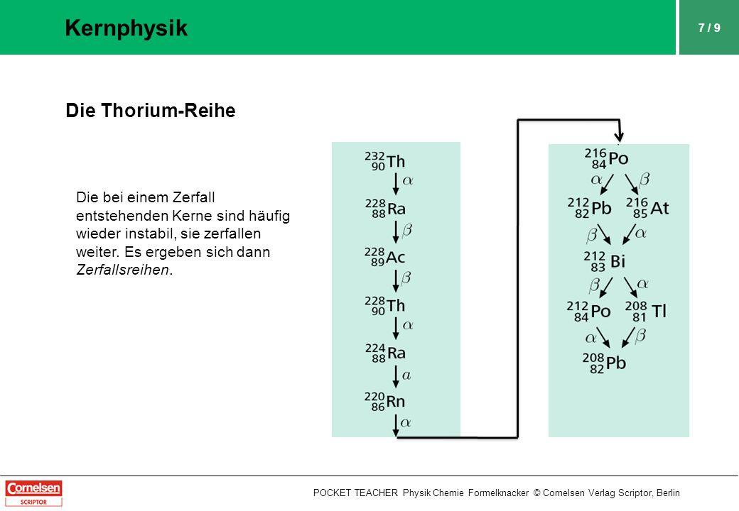 Kernphysik Die Thorium-Reihe