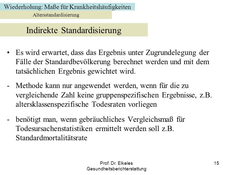 Indirekte Standardisierung