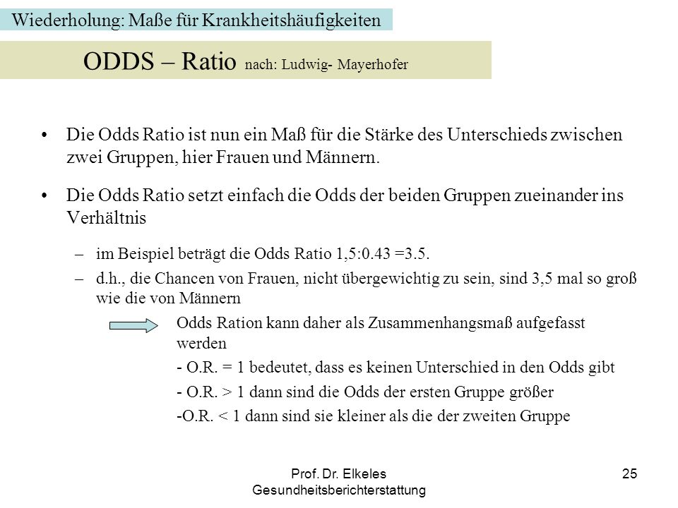 ODDS – Ratio nach: Ludwig- Mayerhofer