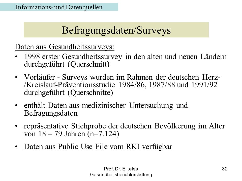 Befragungsdaten/Surveys
