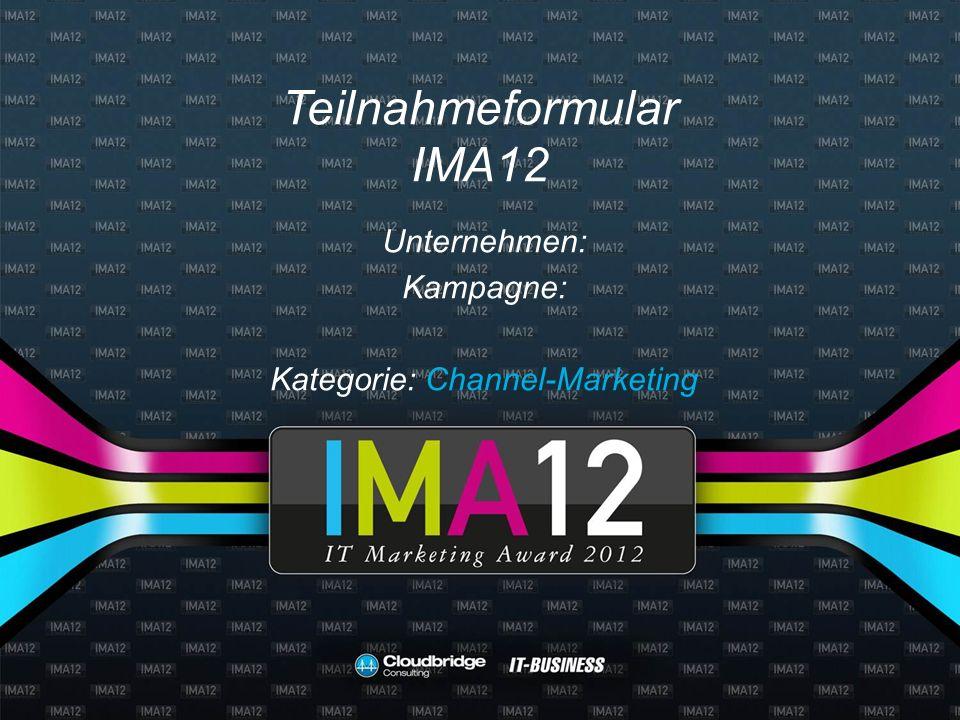 Teilnahmeformular IMA12