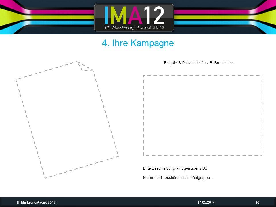 4. Ihre Kampagne Beispiel & Platzhalter für z.B. Broschüren