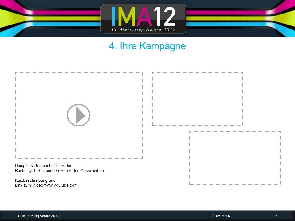 4. Ihre Kampagne Beispiel & Screenshot für Video