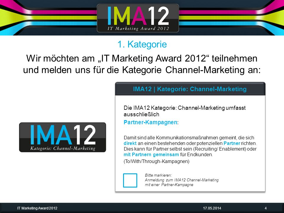 IMA12 | Kategorie: Channel-Marketing