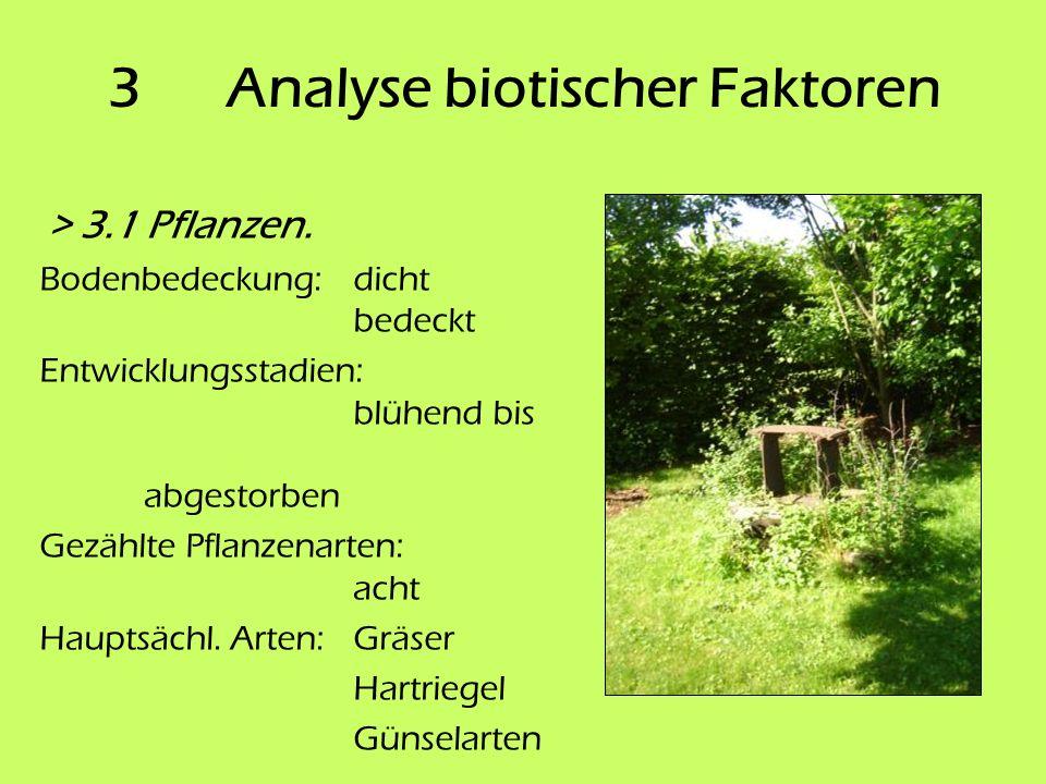 3 Analyse biotischer Faktoren