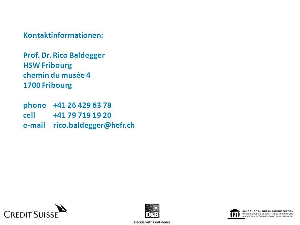 Kontaktinformationen: Prof. Dr