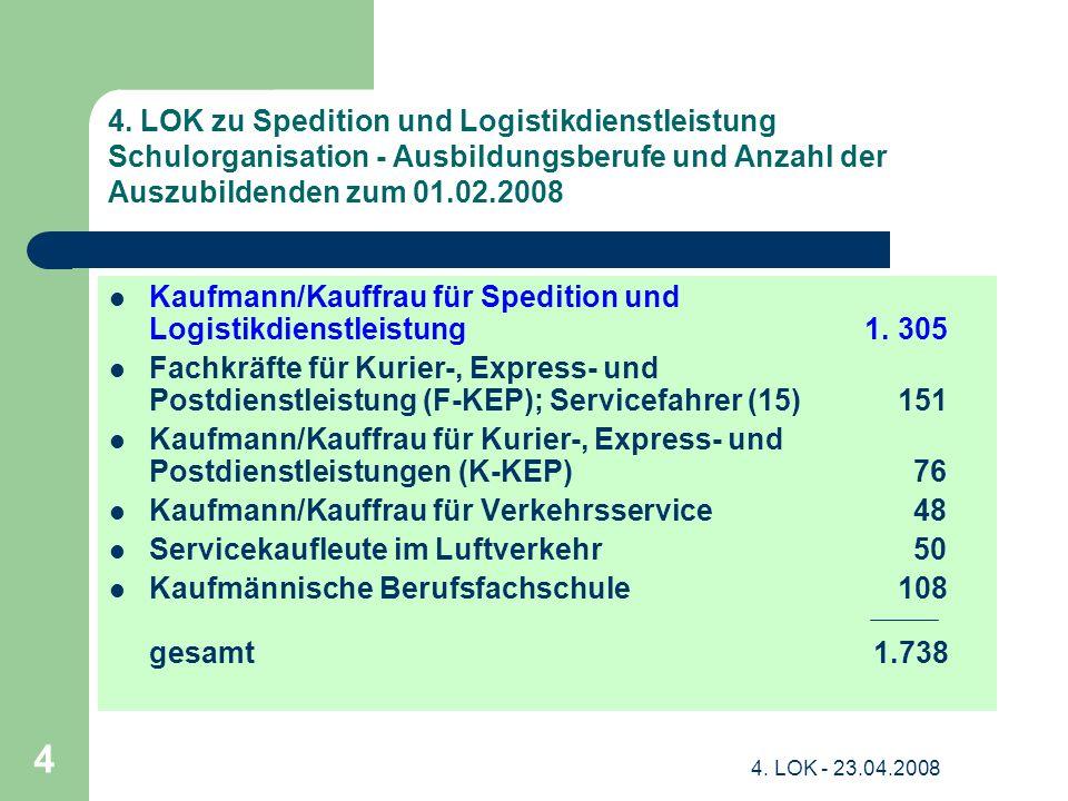 Kaufmann/Kauffrau für Spedition und Logistikdienstleistung 1. 305
