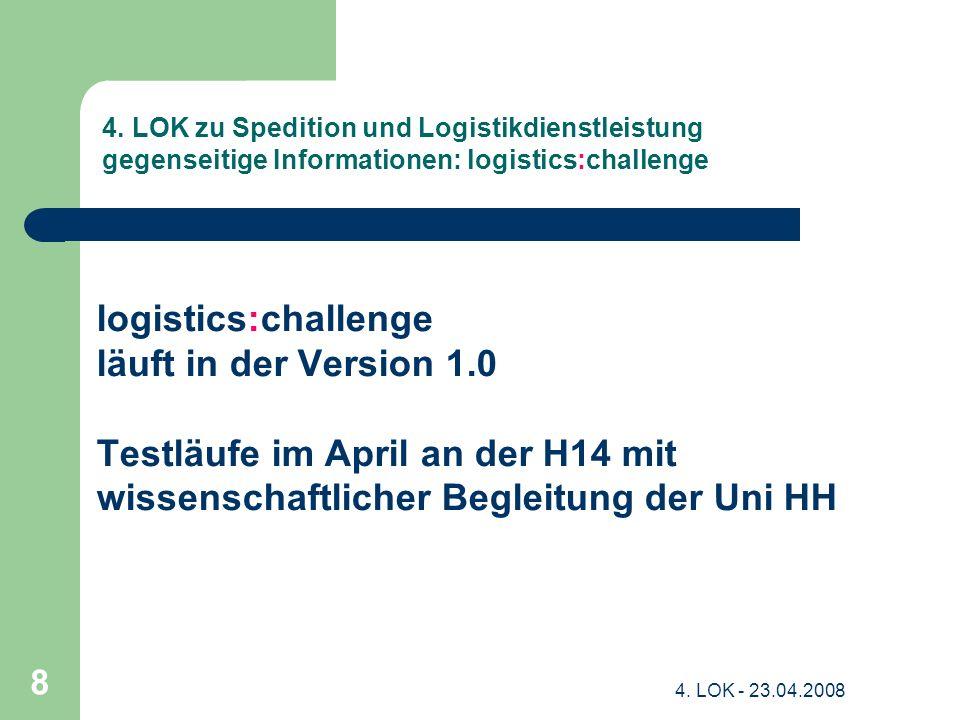 Testläufe im April an der H14 mit