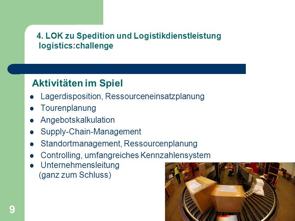 4. LOK zu Spedition und Logistikdienstleistung logistics:challenge