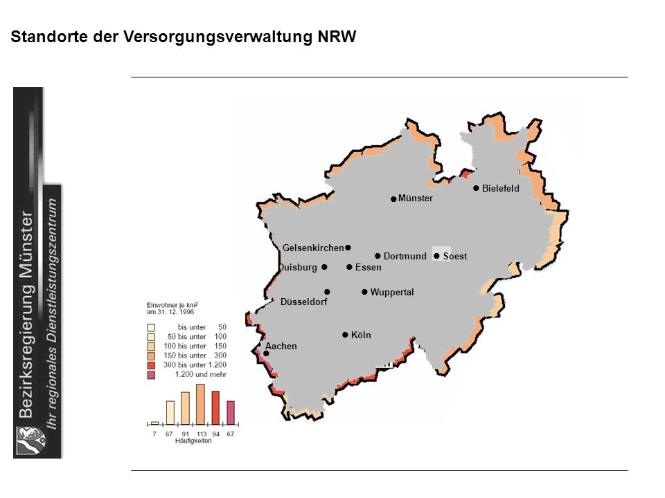 Standorte der Versorgungsverwaltung NRW