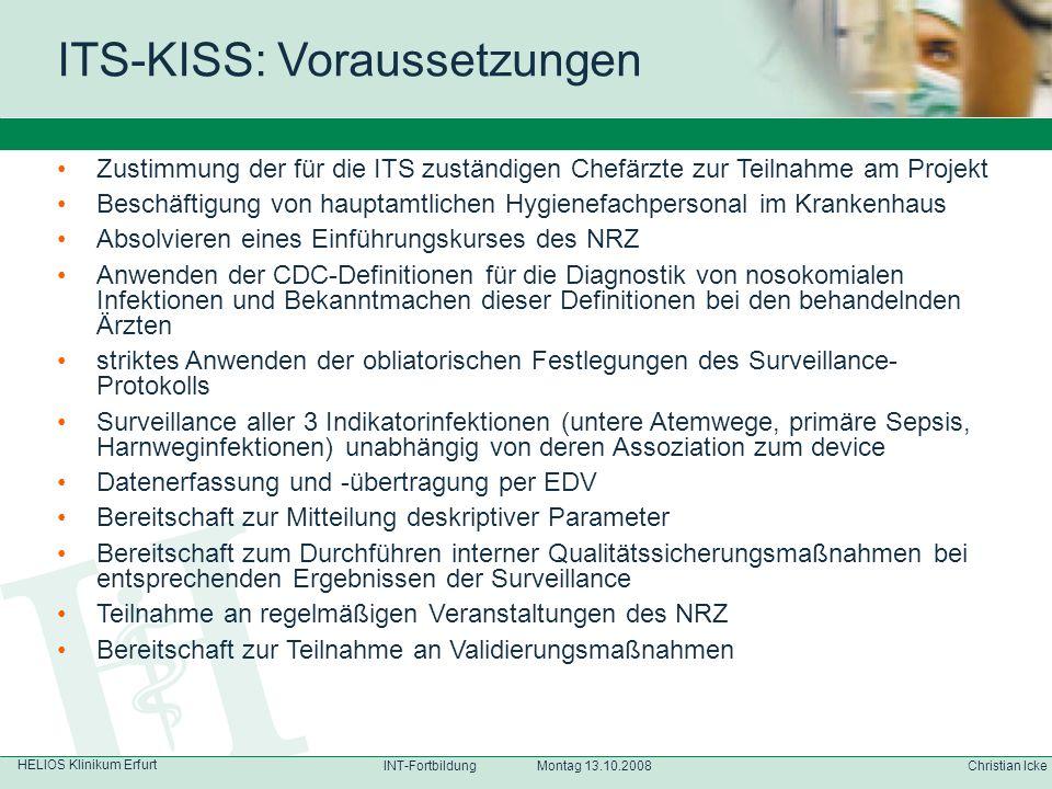 ITS-KISS: Voraussetzungen