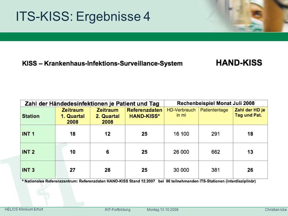 ITS-KISS: Ergebnisse 4 HELIOS Klinikum Erfurt