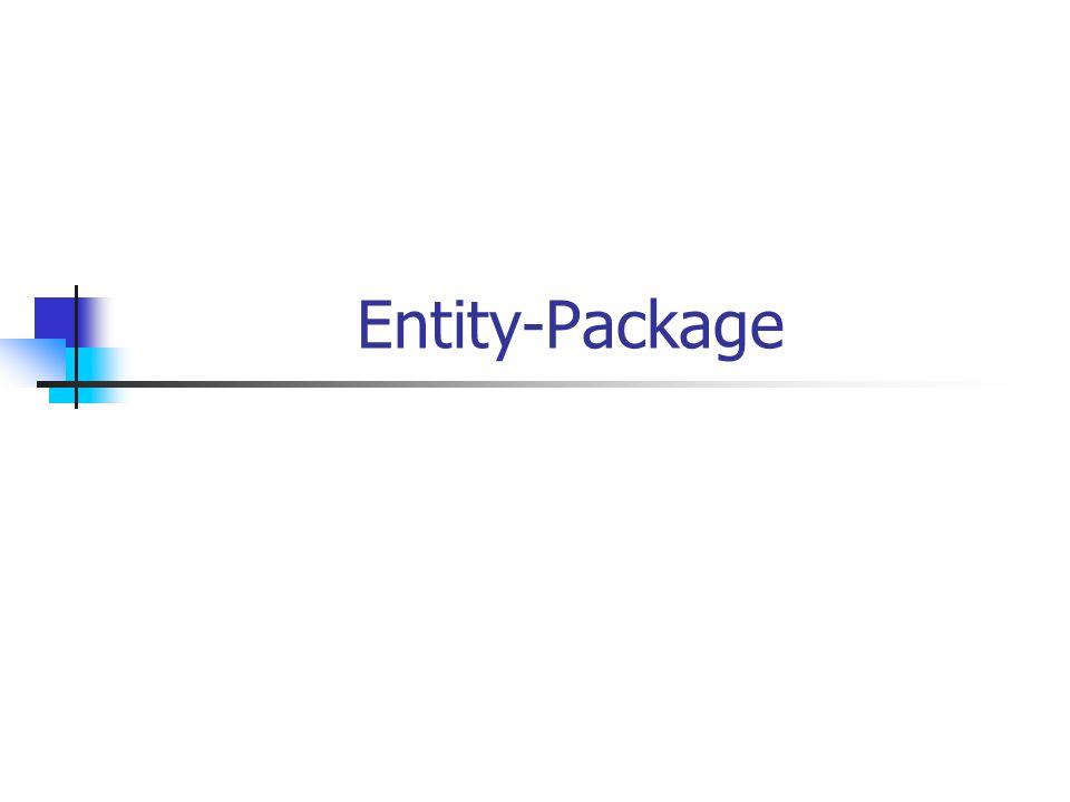 Entity-Package Entity-klassen sprechen (die die daten kapseln)