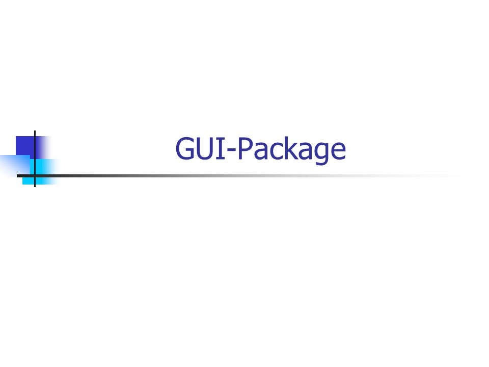GUI-Package