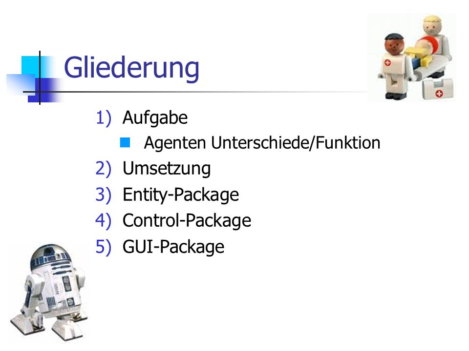 Gliederung Aufgabe Umsetzung Entity-Package Control-Package