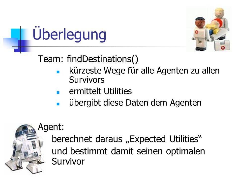 Überlegung Team: findDestinations() Agent: