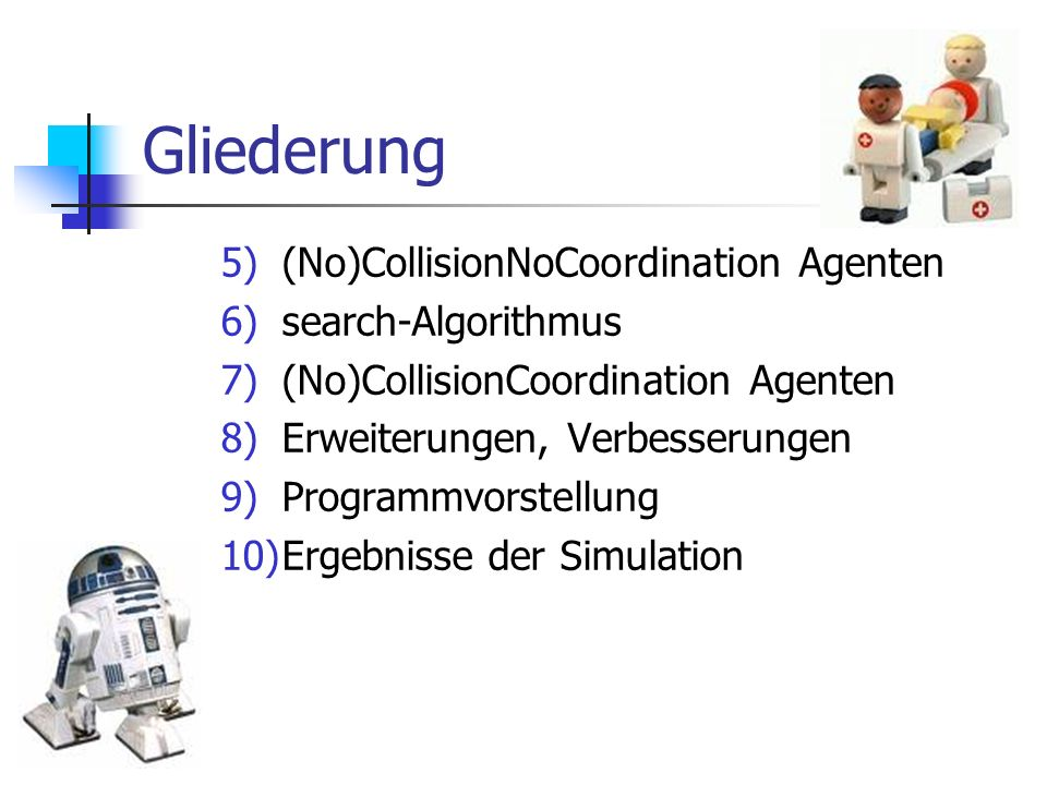 Gliederung (No)CollisionNoCoordination Agenten search-Algorithmus
