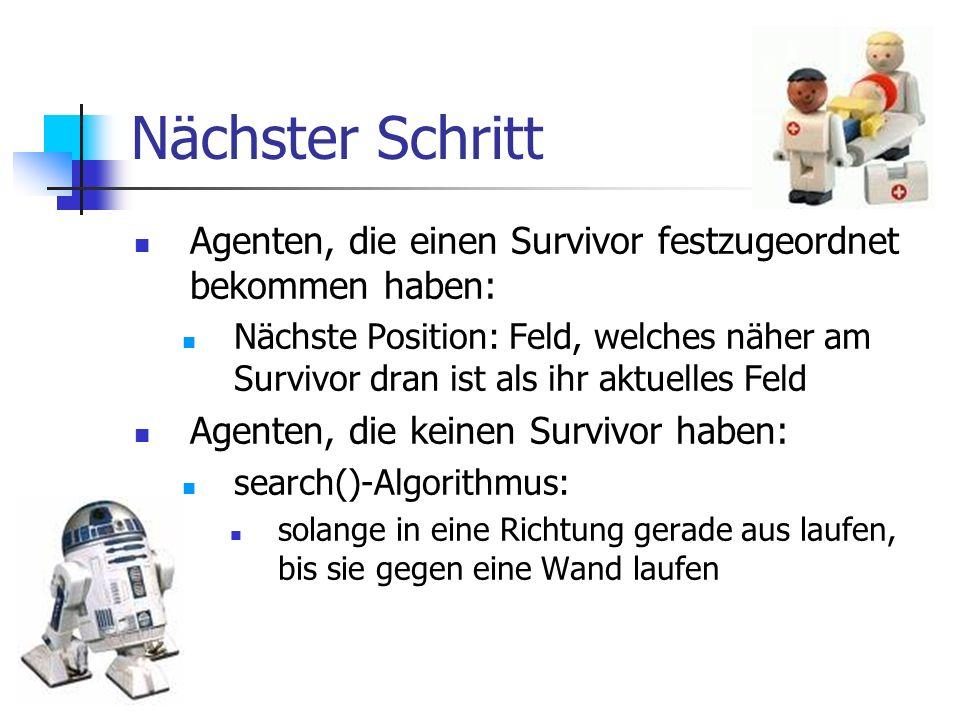 Nächster Schritt Agenten, die einen Survivor festzugeordnet bekommen haben:
