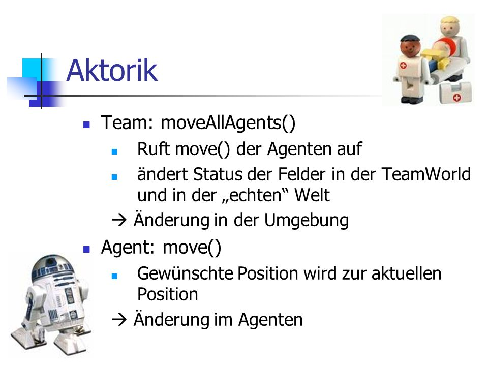 Aktorik Team: moveAllAgents() Agent: move()