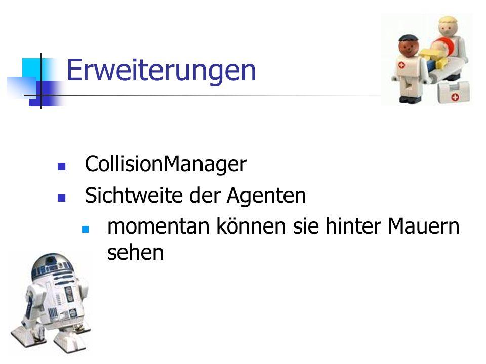 Erweiterungen CollisionManager Sichtweite der Agenten