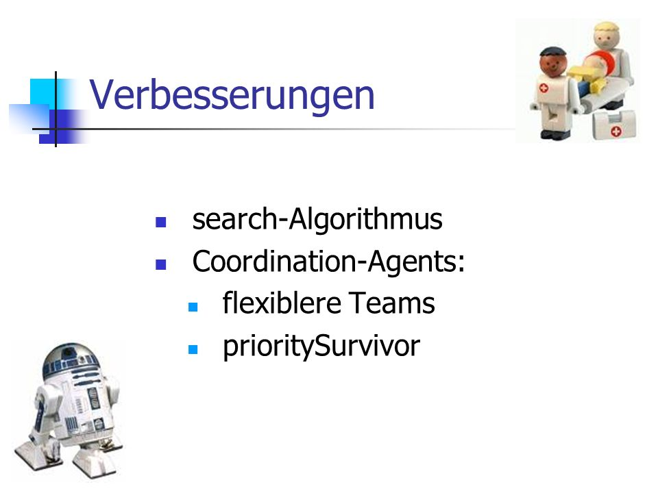 Verbesserungen search-Algorithmus Coordination-Agents: